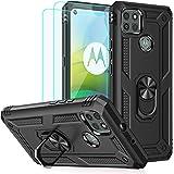 Funda para Moto G9 Power Case, Motorola G9 Power Case, con protectores de pantalla HD, anillo de metal de grado militar Andro