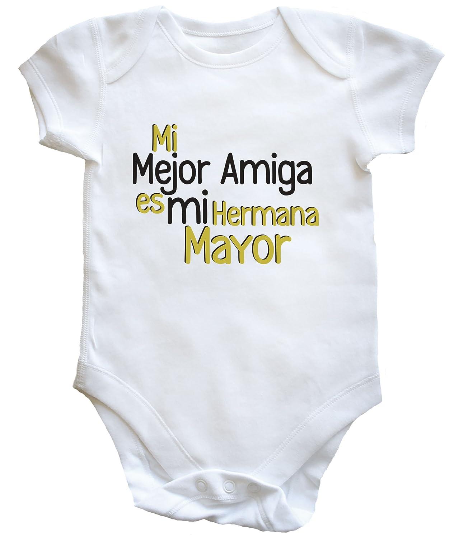 HippoWarehouse Mejor Amiga es mi Hermana Mayor body bodys pijama niños niñas unisex: Amazon.es: Ropa y accesorios