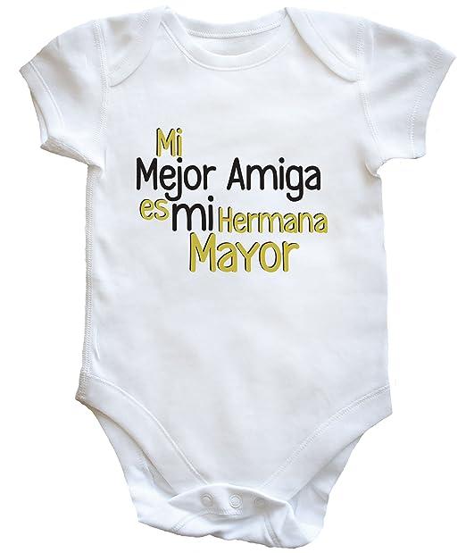 HippoWarehouse Mi Mejor Amiga es mi Hermana Mayor Body Bodys Pijama niños niñas Unisex