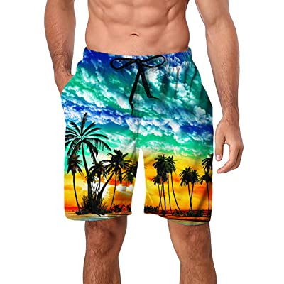 Swimwear Men Cartoon Shorts Breathable Quick Dry Summer Beach Swimming Briefs