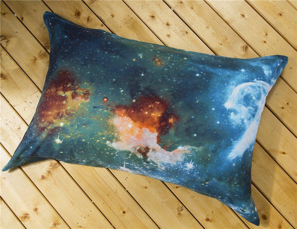 Nattey Star Galaxy Bedding Set Duvet Cover Set for Teen Kids Gift Full, E