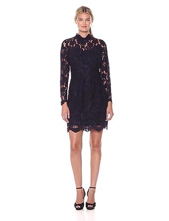 Betsey Johnson Women's Lace Sheath Dress, Navy, 0