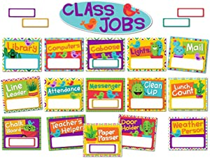 Eureka A Sharp Bunch Classroom Jobs Bulletin Board Set, 40 pcs