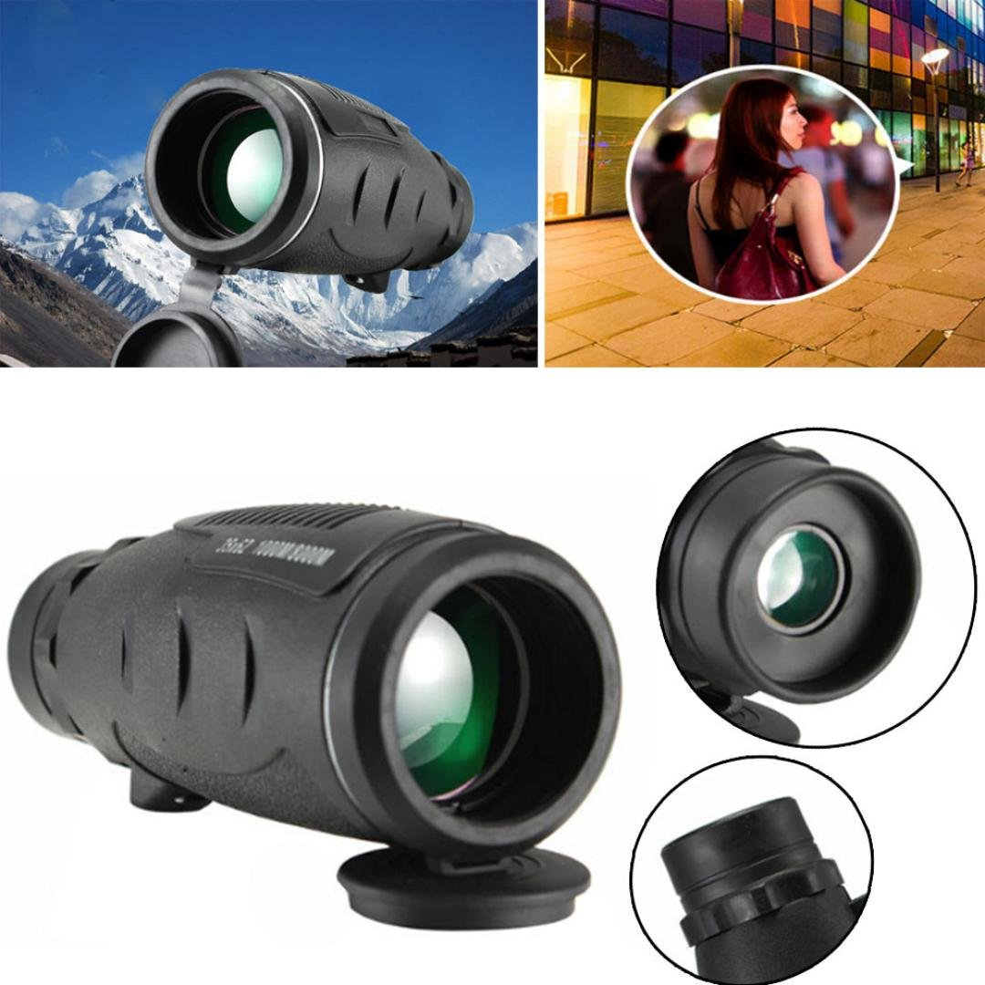 Outdoor & Sports,Dartphew 1Pcs Portable HD Night Vision WaterProof Monocular-Ultra High Power 35X62,for Outdoor Hiking Camping Multifunction(Cool Black,Product size:160X60X58mm)