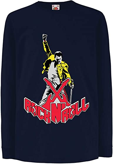 lepni.me Camiseta para Niño/Niña Rock and Roll para Siempre ...