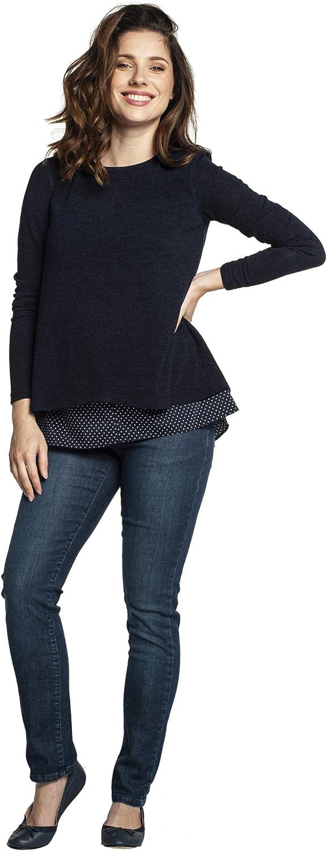 Jersey de lactancia azul oscuro XL Torelle Maternity Wear ETIEN