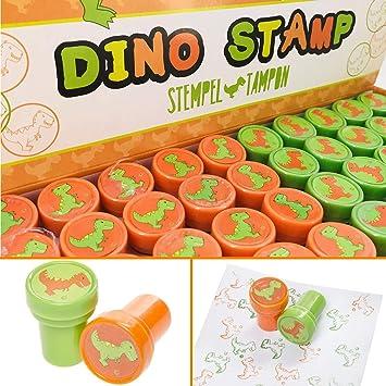 10 Sellos * Dino & T-Rex * como obsequio para cumpleaños ...