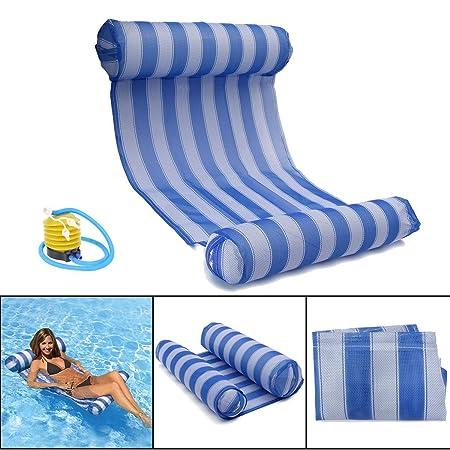 OUTERDO - Hamaca hinchable, cama, boya colchón, tumbona para piscina de lujo para el verano