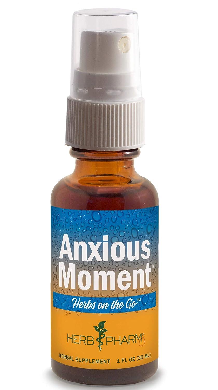 Herb Pharm Herbs On The Go Portable Spray: Anxious Moment, 1 Oz