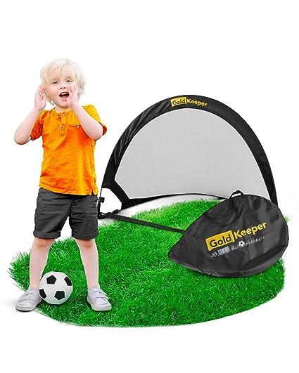 Goldkeeper Fussballtor Fur Kinder 2019er Version Kleines Falttor Fur Fussball Hockey Perfekter Spielspass Im Garten Strand Oder Wohnung