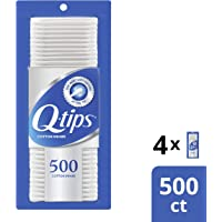 Q-tips Swabs Cotton 500 ct, 4 pack