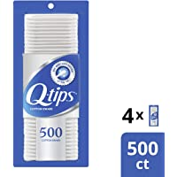 Q-tips Swabs Cotton, 500 Count, Pack of 4