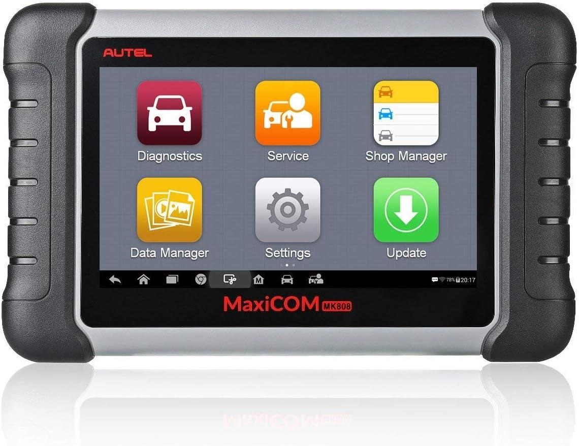 Herramienta de diagnóstico escáner Autel Maxicom MK808 OBD2, funcionamiento con todos los sistemas, ofrece reset de aceite, EPB, BMS, SAS, DPF, TPMS e IMMO (MD802 + maxicheck Pro)