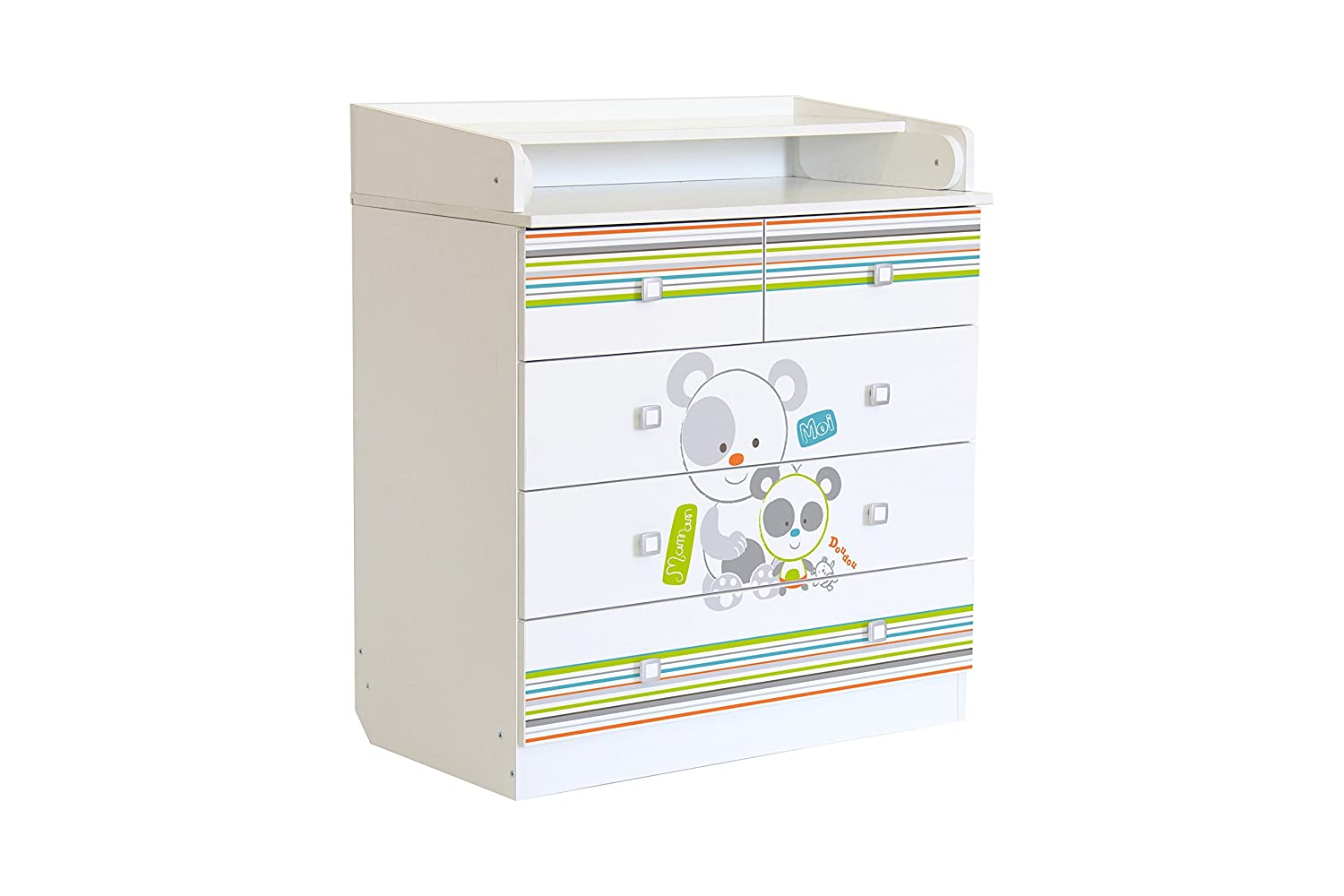 Polini Kids Simple Pandas design, cassetti, numero 1780, bianco HESS Polini Kids_0001315.9.4