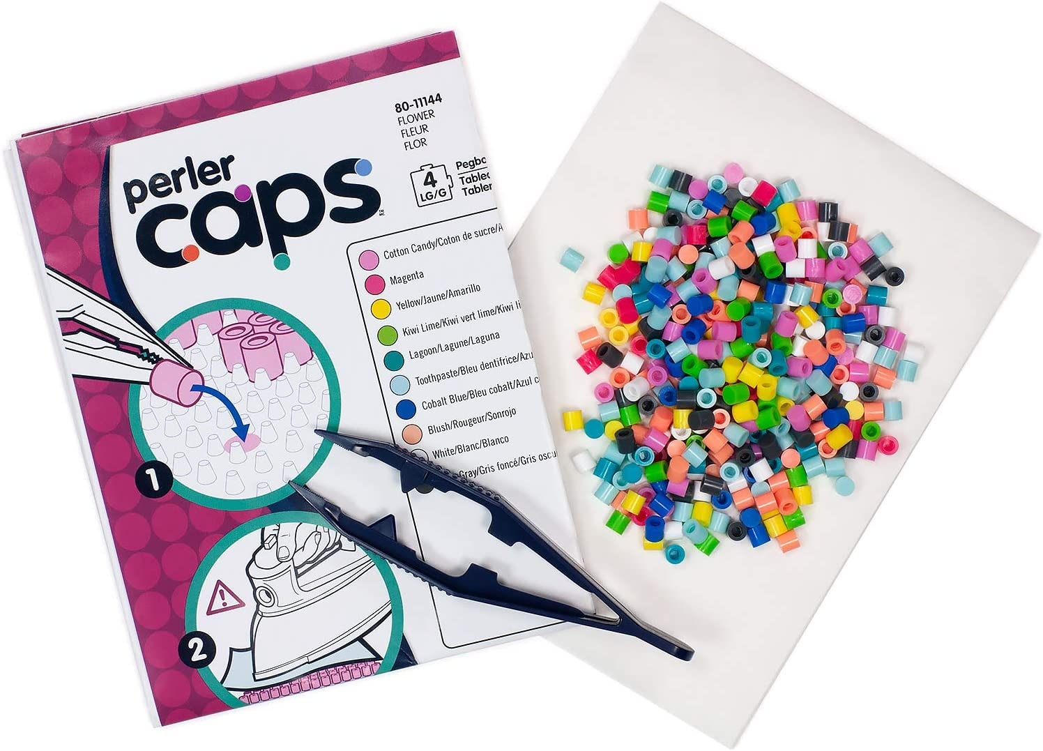 Flower Pattern Kit Perler 80-11144 Solid-Top Cap Fuse Beads 3505pcs