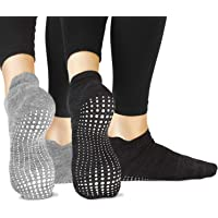 LA Active Grip Chaussettes Antidérapantes - Pour Yoga Pilates Barre Ballet Femme Homme