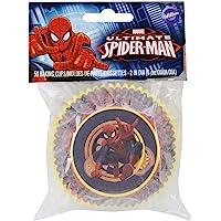 Wilton Standard Baking Cups, Spider-Man, 50-Pack