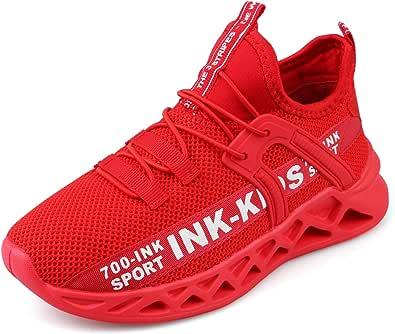 Decai Ligeras Zapatillas Deportivas Unisex Niños Zapatillas de Correr Niño Zapatos Deportivo Transpirable Niña Zapatos de Running Deportes de Exterior Interior