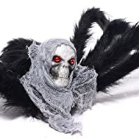 TOAOB 35-in Large Spider Halloween Skull Decoration Prop Deals