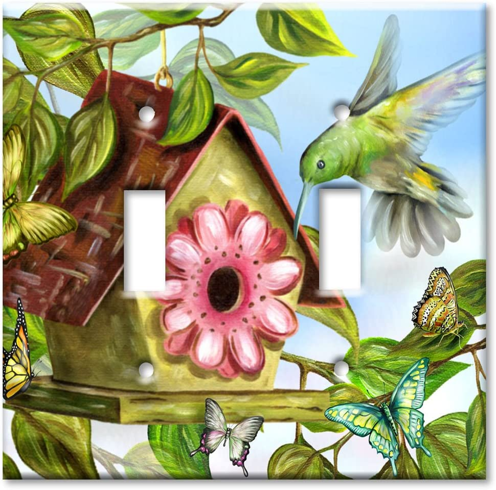 Double Gang Toggle Wall Plate - Hummingbird House