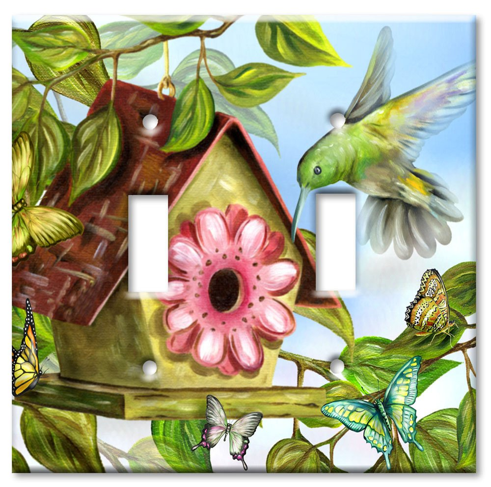 Art Plates - Hummingbird House Switch Plate - Double Toggle