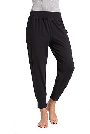 c065e1c4 CYZ Collection Women's 100% Cotton Knit Pajamas Pants/Lounge Pants-Black-S