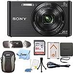 Sony DSC-W830 Cyber-Shot 20.1MP Digital Camera + 64GB Memory Card &