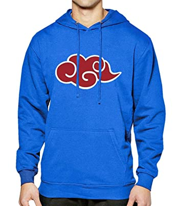 WEEKEND SHOP Hoodie Hoodie Men Japan Anime Naruto Akatsuki Hoody Sweatshirt Mens Sportswear Blue