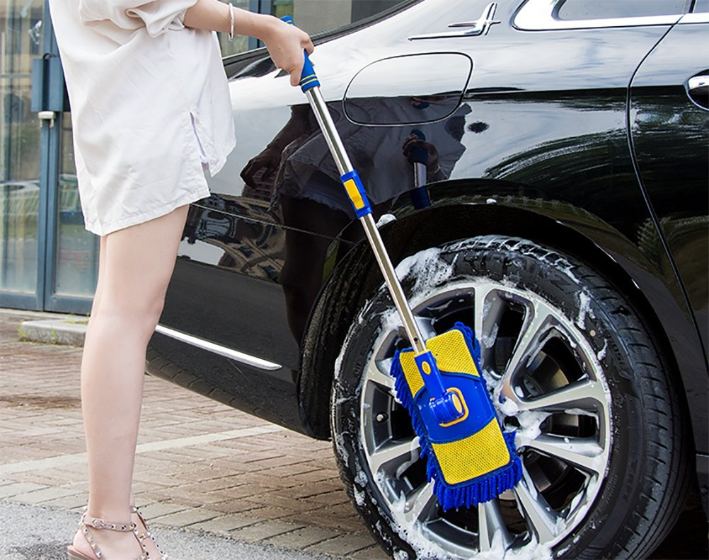 Fußboden Im Auto Nass ~ Jiner grad nass mop microfaser chenille flexible griff auto