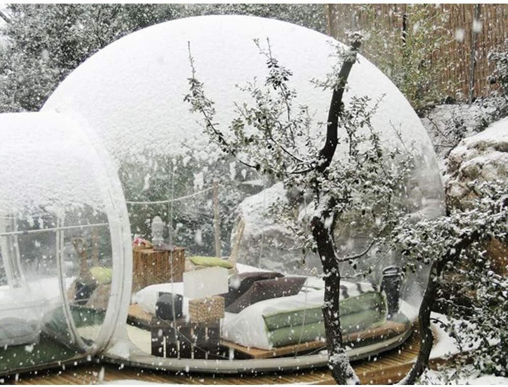 SKLLA Tienda Inflable de la Burbuja Patio Trasero Que acampa de la Sola Familia al Aire Libre Transparente del t/únel con 3 tama/ños