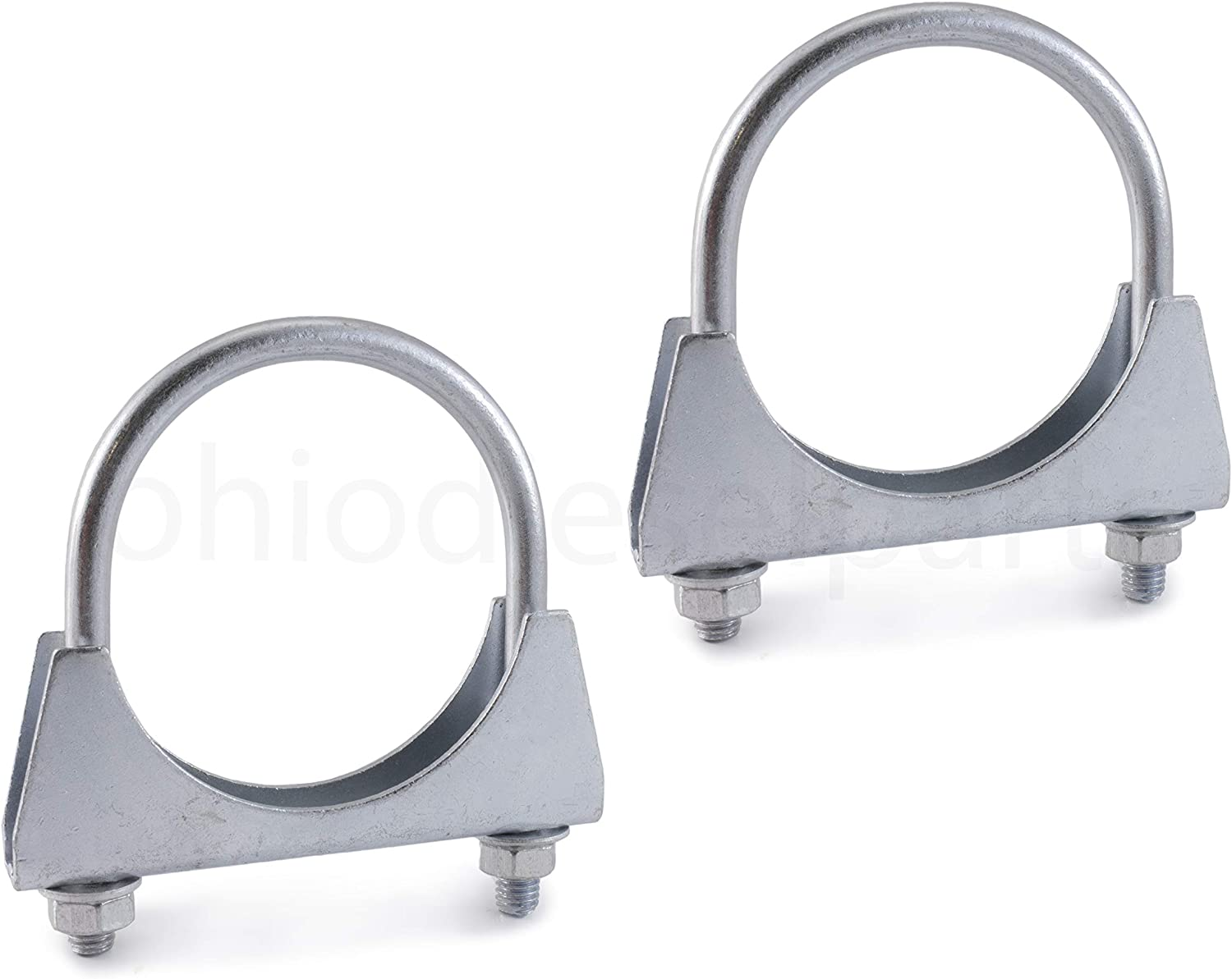 2-Pack Saddle Style with U-Bolt Zinc Ohio Diesel Parts Heavy Duty Muffler//Exhaust Clamp 1-11//16 Inch