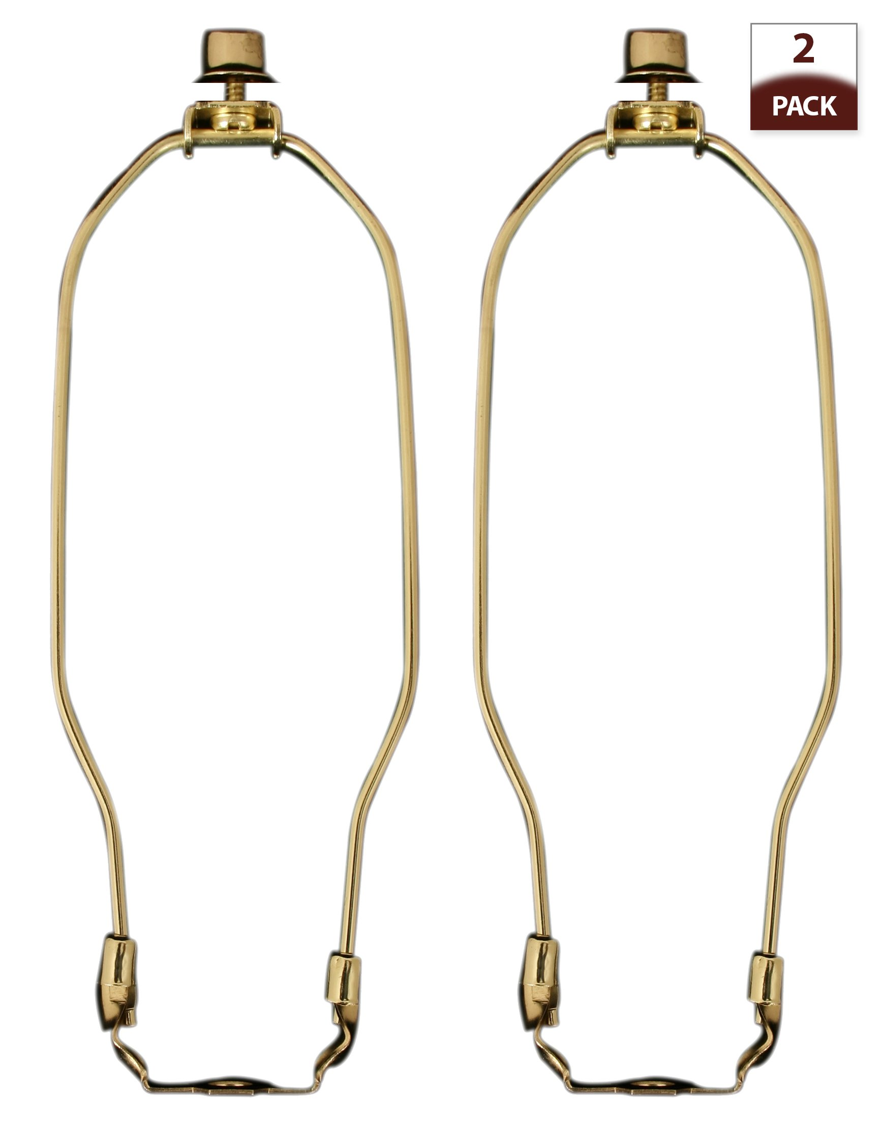 Royal Designs 7.5'' Lamp Harp, Finial and Lamp Harp Holder Set, Polished Brass, More Sizes Available (HA-1002-7.5BR-2)