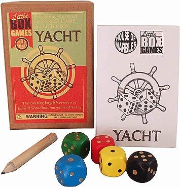 Juego Yatch de House of Marbles Caja Pequeña Retro Vintage Póker Dados Set Viaje: Amazon.es: Juguetes y juegos