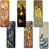 Creanoso Famous Art Bookmarks (12-Pack) - Pablo Picasso, Gustav Klimt, Wassily Kandinsky, Leonardo da Vinci, Paul Klee, Katsushika Hokusai Painting Prints