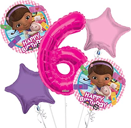 Doc McStuffins Party Supplies Lambie and friends Birthday Balloon Bouquet Decorations