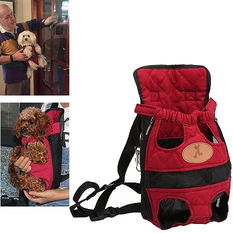 Kismaple Mochila para perros de mascotas Bolsa doble Bolsa de hombro Mochila para perros y gatos