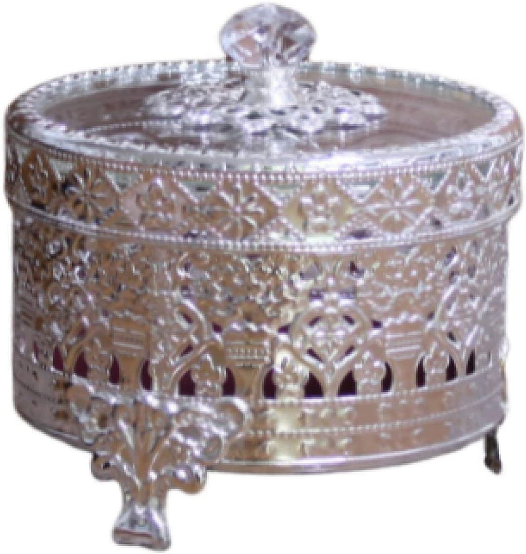By Toyo Jewelry Box Round Ceramic Trinket Box Gold Edging Vintage Retro Trinket Box Ring Box Morning Glory Design