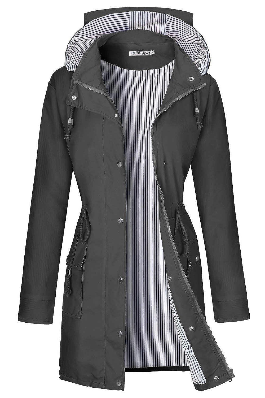 BBX Lephsnt OUTERWEAR レディース B07JJ6SJ8L Long Style-dark Grey Large