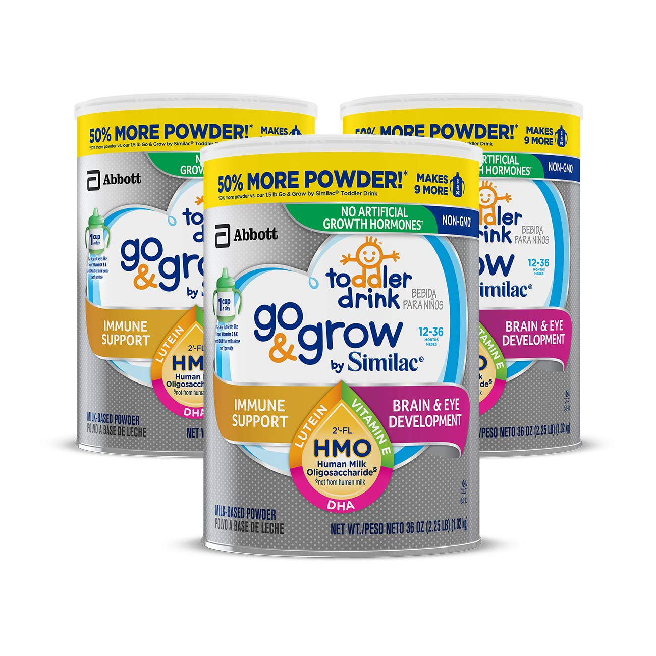Go & Grow by Similac Non-GMO Toddler Milk-Based Drink with 2