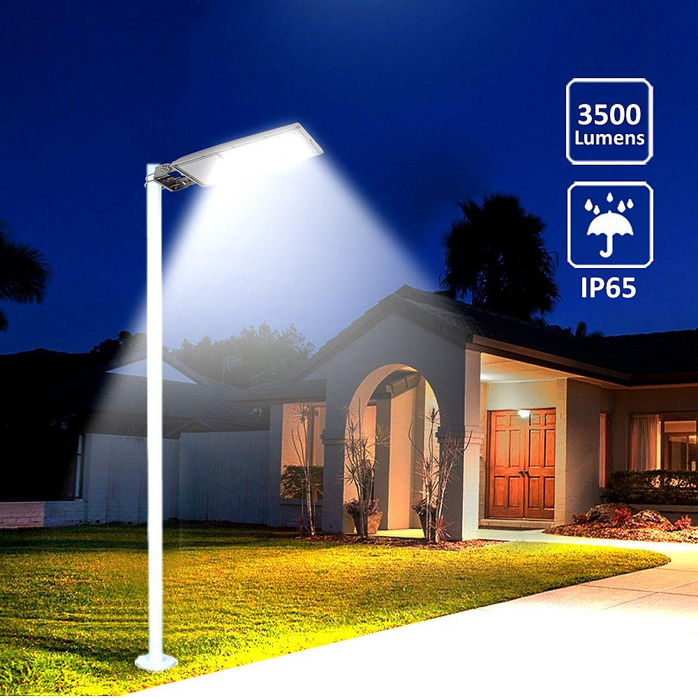 TSSS 35/W lampada strada 72LED luce stradale lampada con sensore IP65/impermeabile esterno lampada da giardino 3500lm 5000/K strada illuminazione cortile 2 pezzi 35.00W 220.00V