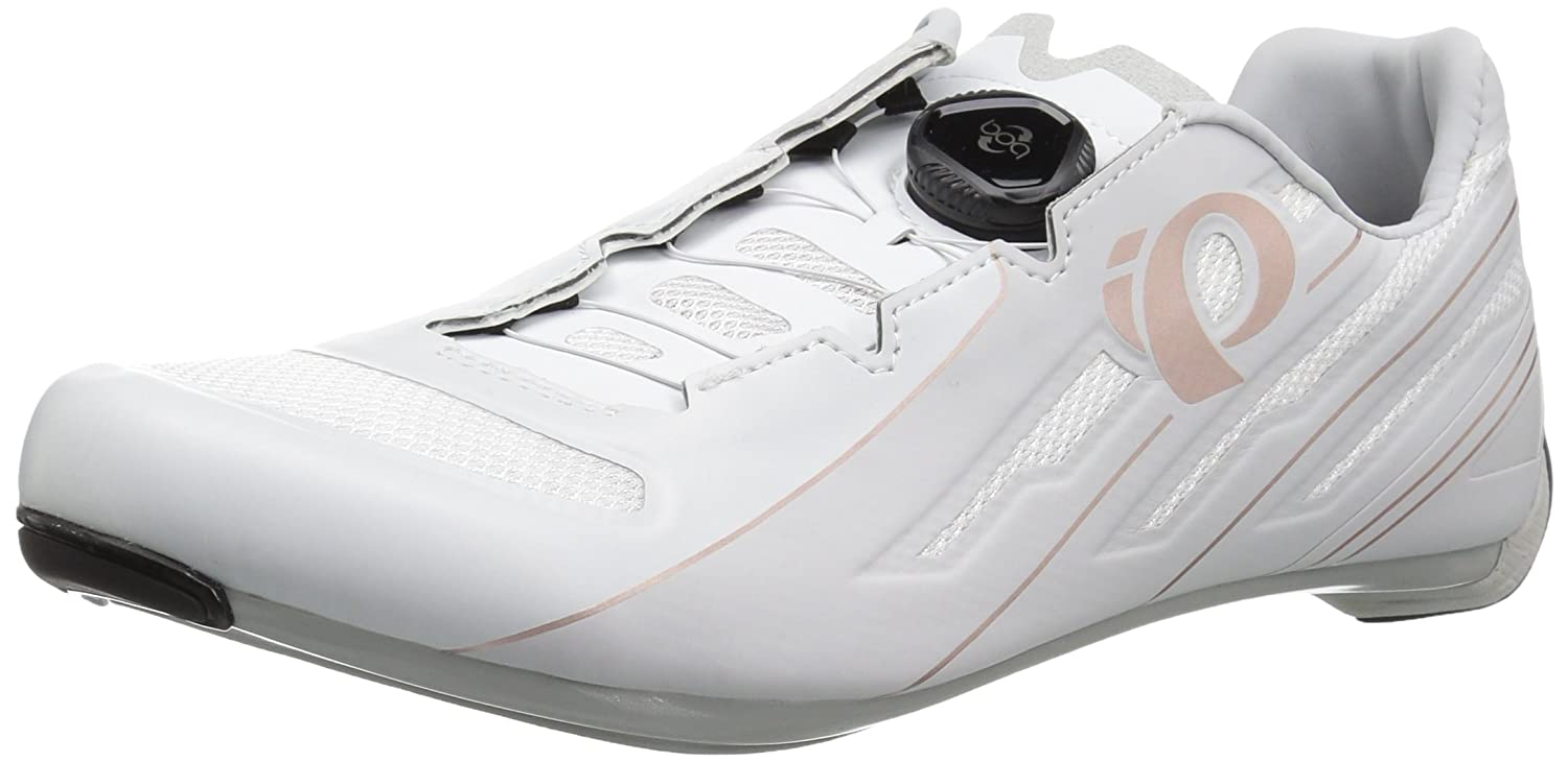 Pearl iZUMi Women's W Race Road v5 Cycling Shoe B072M2MBKV 38.0 M EU (6.8 US)|White/Grey