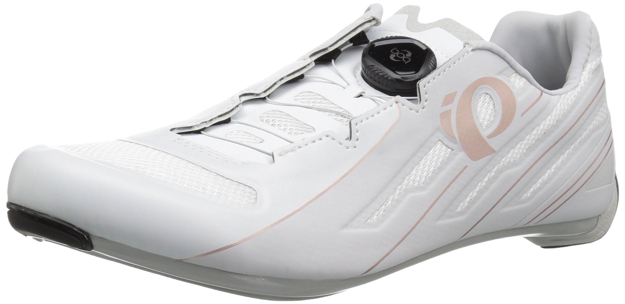 Pearl iZUMi Women's W Race Road v5 Cycling Shoe, White/Grey, 36.5 M EU (5.5 US)