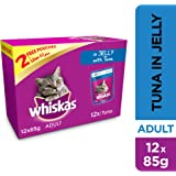 Whiskas Tuna in Jelly, Pouch, Multipack, 85g x Pack of 12