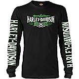 Harley-Davidson Military - Men's Long-Sleeve Graphic T-Shirt - Ramstein AB | Villain