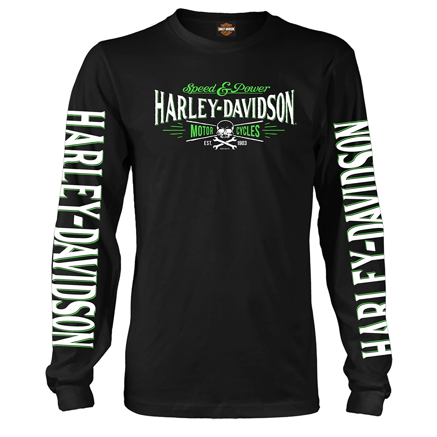 c254fc5c113e Amazon.com  Harley-Davidson Military - Men s Long-Sleeve Graphic T-Shirt -  Ramstein AB