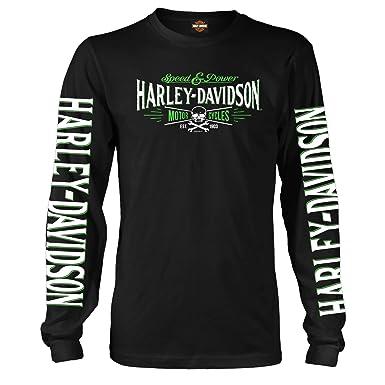 62144a93 Harley-Davidson Military Long-Sleeve Graphic T-Shirt - Ramstein AB | Villain