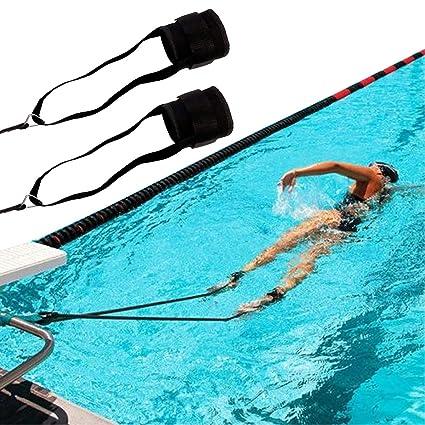 XJunion Swim Ankle Strap Stationary Swimmer Fitness Swim Lap Swim Training  Leash