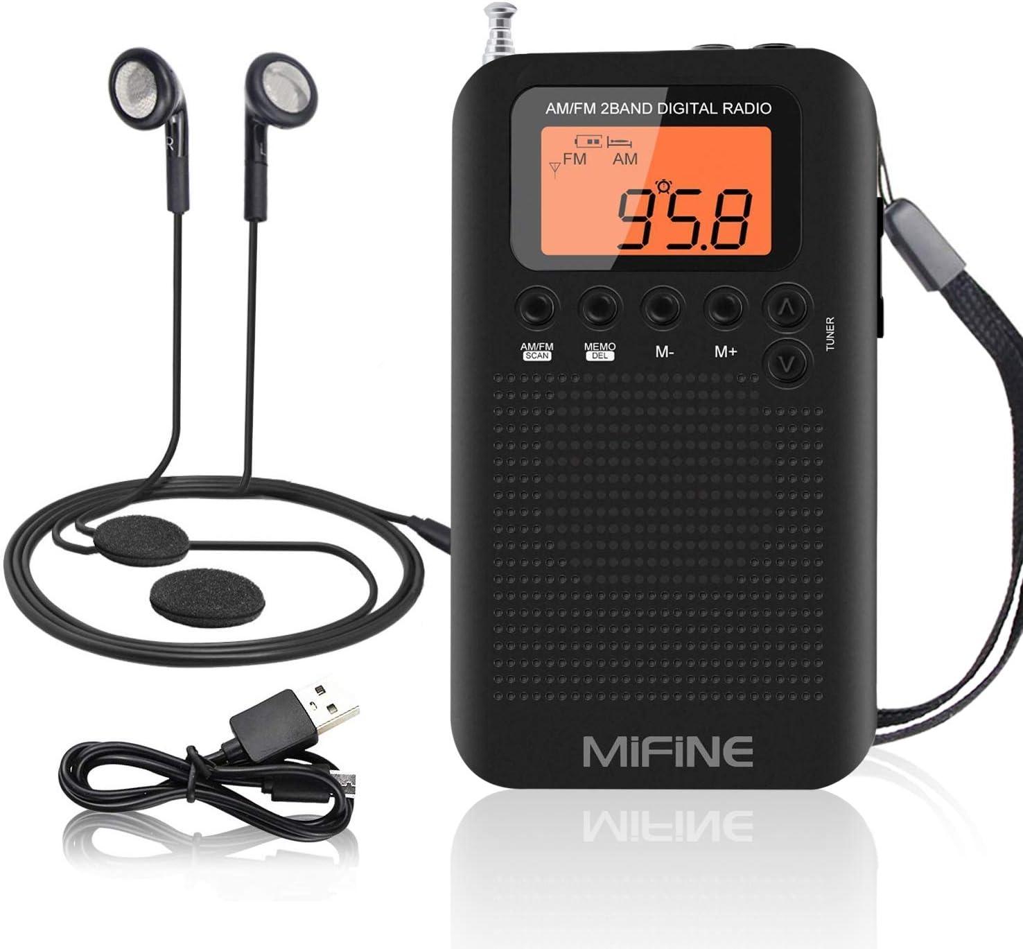 Mini radio de bolsillo, Mifine Radio AM FM portátil Altavoz de ...