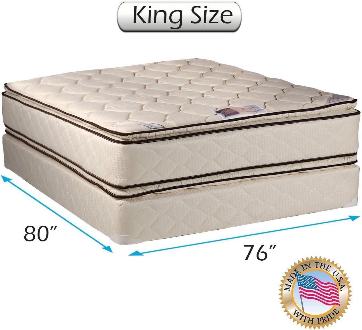 Amazon Com Coil Comfort Pillowtop King Size Mattress And Box