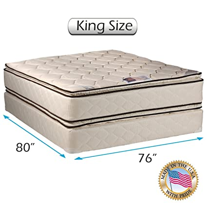 Amazon.com: Coil Comfort Pillowtop King Size Mattress and Box